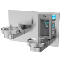 Non Refrigerated, Bi-Level Radii Fountain w/ Integrated Electronic Bottle Filler