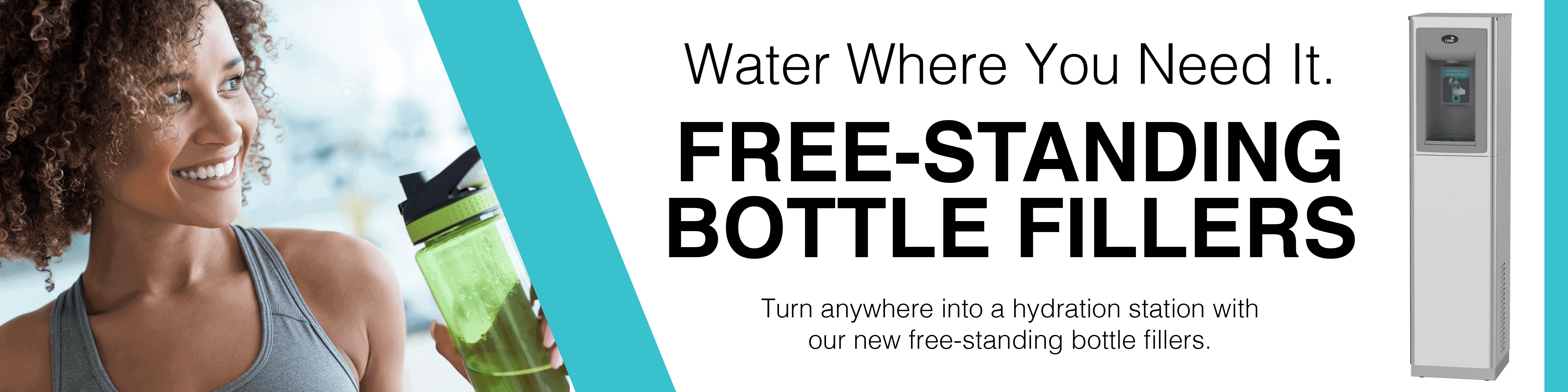 Free-Standing Bottle Fillers